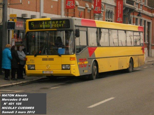Paperbus Mercedes O405 TEC Hanaut N°401 105 Nicolay de Cuesmes