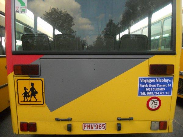 Paperbus Mercedes O 405 N1 exTEC N°ex401 114 (déclassé) envoyé à la casse la 15 janvier 2012)