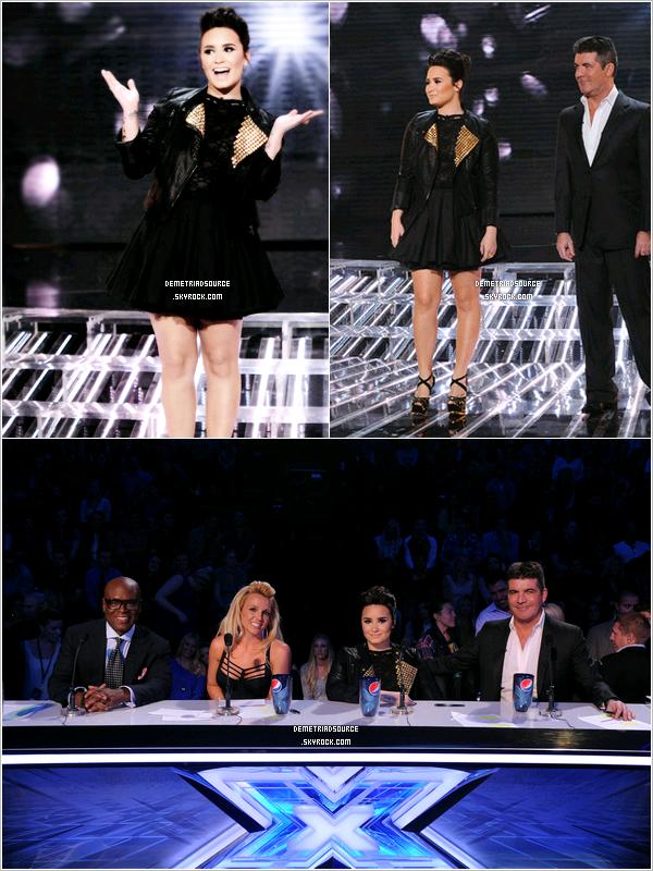 . 28.11.12: Demi était comme chaque a un Live show de X factor. Je la trouve très jolie et j'adore sa tenue surtout la robe. Un magnifique TOP. .
