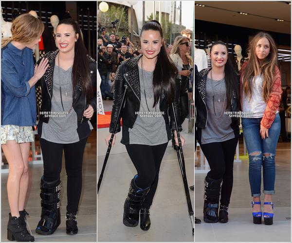 . 12.02.13: Demi était à laconférencede presse de l'ouverture de TopShop TopMan. Je la trouve très belle, j'adore sa tenue et le chignon le va super bien. Un gros top pour la miss. .