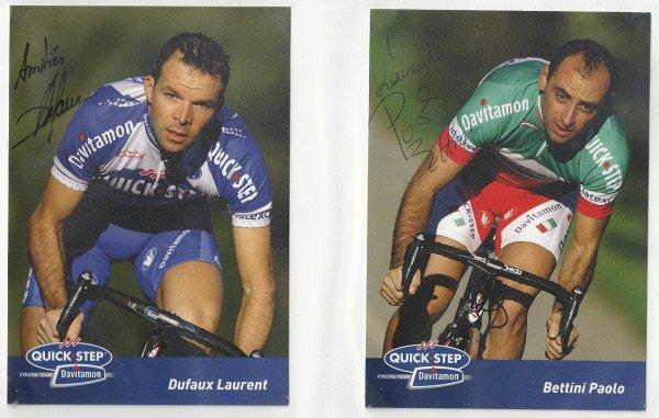 Paolo Bettini et Laurent Dufaux
