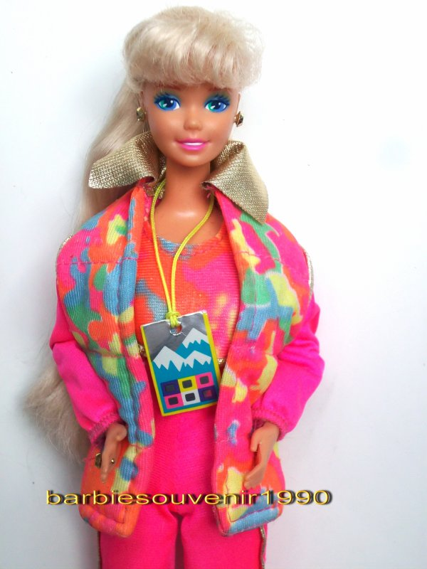 Barbie ski fun 1990