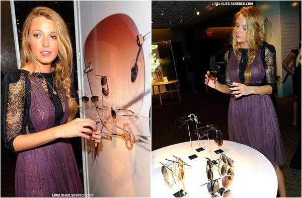 """• 19.08.10 • Blake était au """"Tiffany & Co.""""  • Niveau Tenue : Superbe, sa robe violette lui va superbement bien : TOP !"""