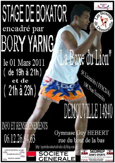 Stage de BOKATOR le 01 Mars 2011 à Démouville