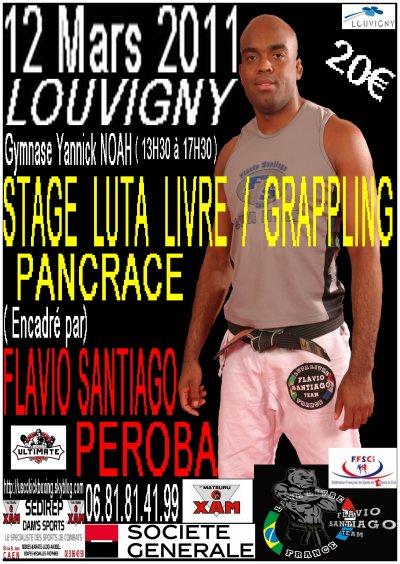 Stage Luta-Livre /Grappling/Pancrace encadré par Flavio SANTIAGO le 12 mars à Louvigny (14)