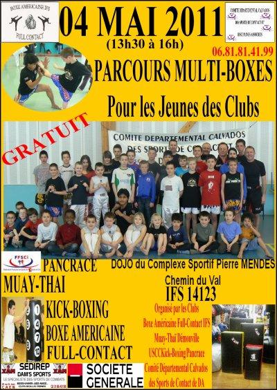 Parcours Jeunes Multi-Boxes le 04 Mai à IFS de 13h30 à 16h