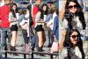 21/04/12 : Selena s'est rendue sur le set du clip de « Boyfriend » de son petit-ami, Justin, à Los Angeles.
