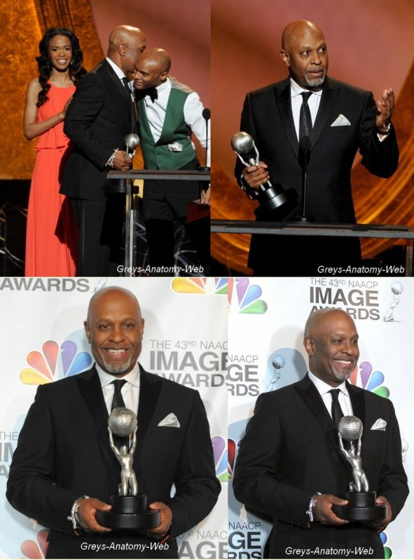 17 Février 2012. Sandra Oh, James Pickens Jr & Chandra Wilson étaient au 43rd NAACP Image Awards