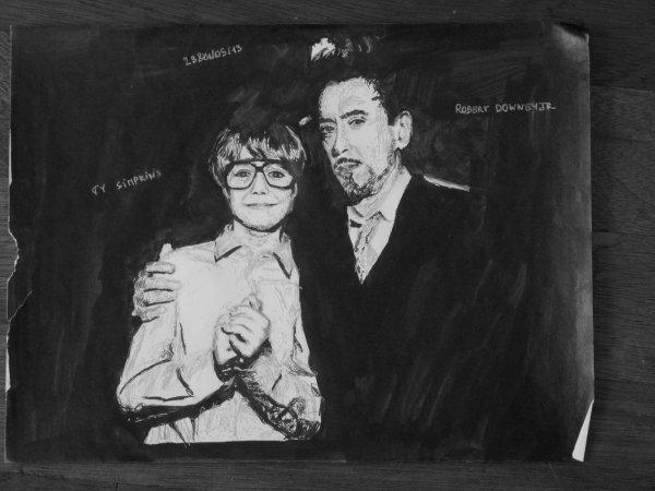 Robert Downey Jr & Ty Simpkins !