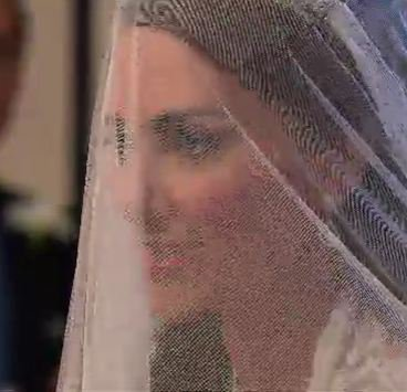 kate middleton sous son voile