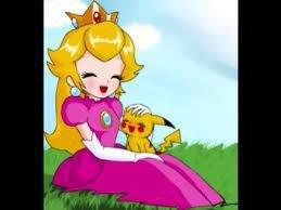 peach et pikachu