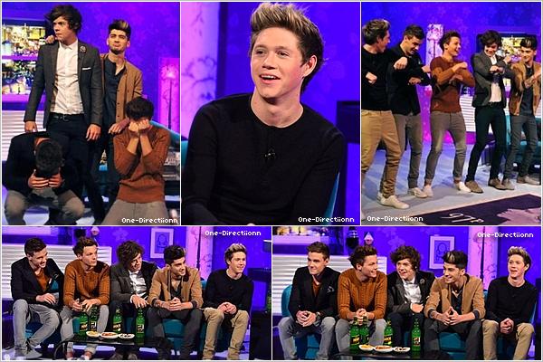 . 28/09 : Les garçons se sont rendu à l'émission d'Alan Carr à Londres..