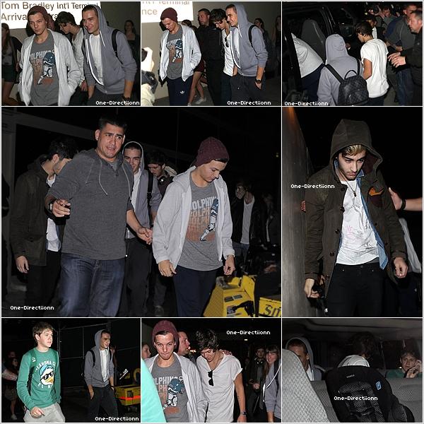 . 06/11 : Les garçons ont été aperçu à l'aéroport de Heathrow à Londres.  Ils ont prit l'avion direction Los Angeles.  .