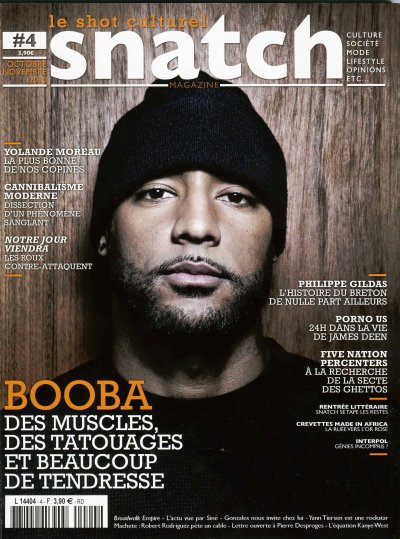 BOOBA EN COUVERTURE DE SNATCH MAGAZINE