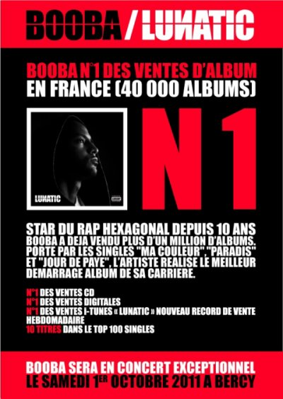"""LUNATIC"" N°1 DES VENTES D'ALBUM EN FRANCE"