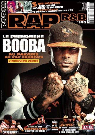 BOOBA EN COUVERTURE DE R.A.P R&B
