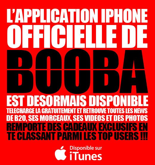 L'APPLICATION IPHONE BOOBA DISPONIBLE SUR ITUNES
