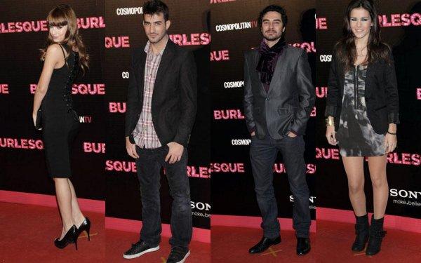 Úrsula, Sandra, José Manuel & Israël Rodriguez a la Première du film « Burlesque »