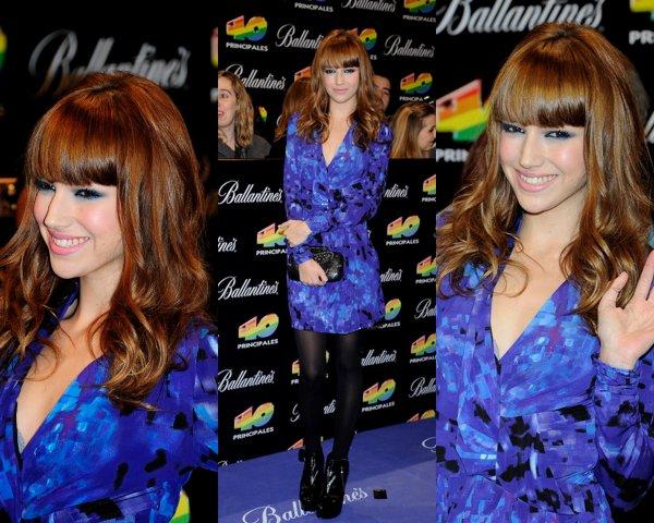 Úrsula Corberó  au Premios 40 2010.