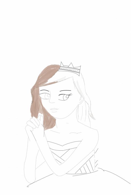 2eme partie de mon dessin d'une princesse