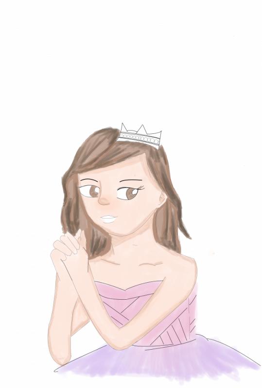 3eme partie de mon dessin d'une princesse
