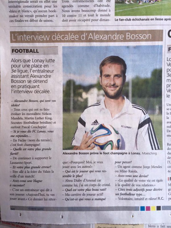 Article du journal de Morges 19.06.2015