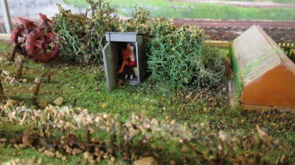 Amoureux dans les toilettes au fond du jardin