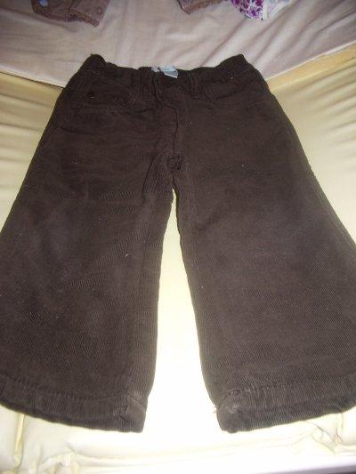 Pantalon velours obaîbi 18 mois taille ajustable 3¤