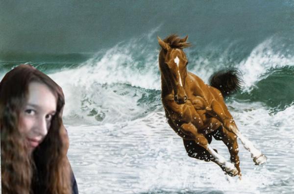 moi et un cheval