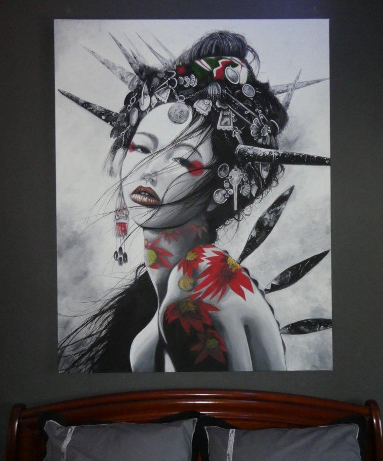 Voilà ! fini ^^ toile de 146 x 114 cm