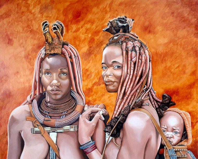 femmes de Nambimie (92 x 73)