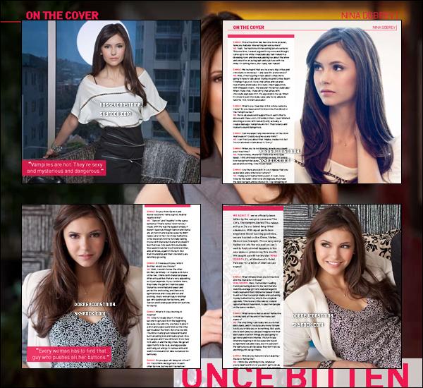 .Découvrez l'interview de Nina pour Saturday Night Magasine traduite en français. Crédite..