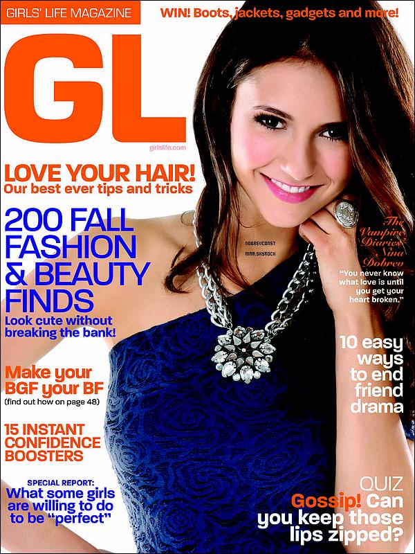 .Nina en première page du GL + scans d'un magazine parlant de « The Vampire Diaries »..