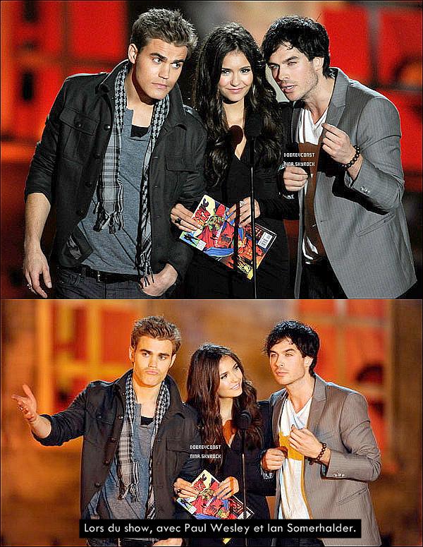 16/10/10 Nina et le cast Vampire Diaries étaient présent au « Spike TV 2010 Scream Awards » à L.A !