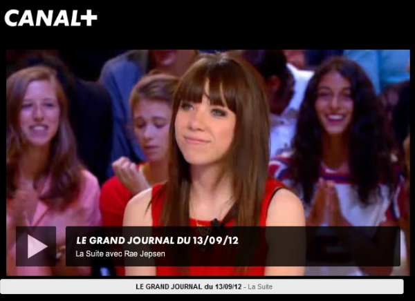 Carly au Grand Journal de Canal +