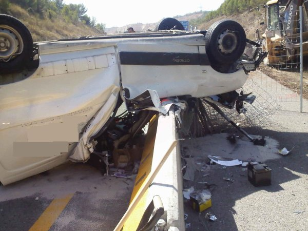 ACCIDENTE ESPECTACULAR EN C-32