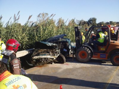 ACCIDENTE GRAVE ENTRE TRAILER Y TURISMO.....