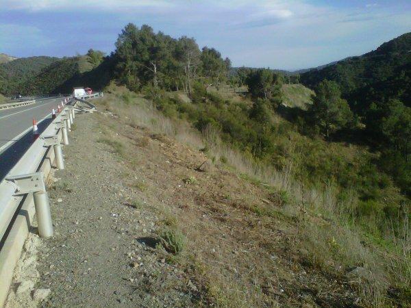 TRAILER QUE REVIENTA RUEDA Y CAE A 70 Mts... Sin heridos..