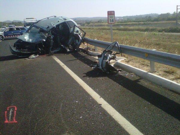 ACCIDENTE MORTAL EN C-15 VILAFRANCA DEL PENEDES 29-06-2012