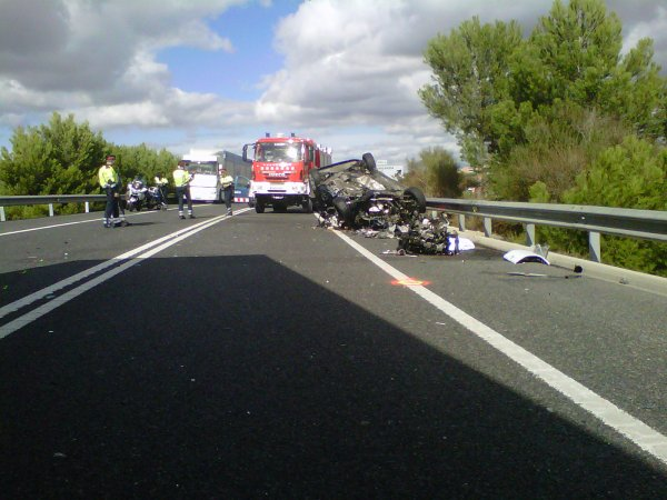 ACCIDENT MORTAL A N-340 KM 1206 EL 17-10-2012