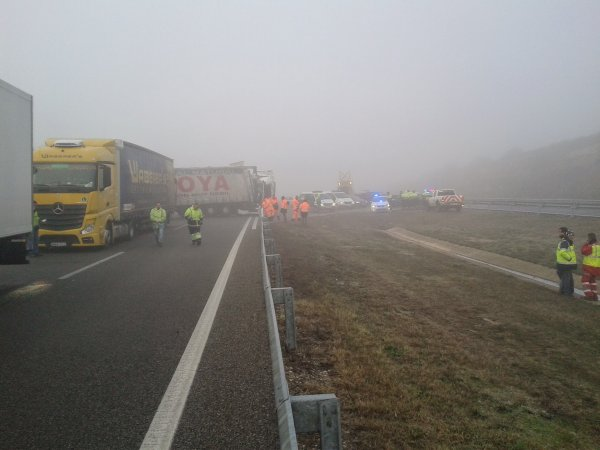 ACCIDENT MULTIPLE AP2 CASTELLDANS 14-01-2015