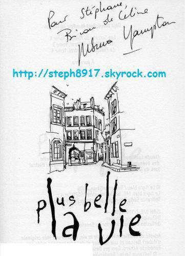 """AUTOGRAPHE DE CELINE FREMONT (SERIE """"PLUS BELLE LA VIE"""")"""