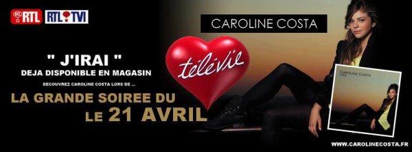 CAROLINE A BRUXELLES LE 21 AVRIL A 19H45.