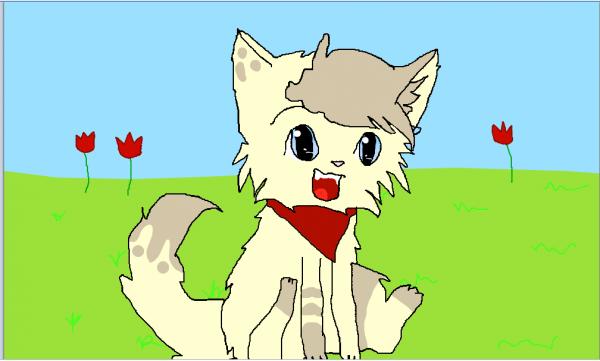 dessin de wesley en chat :3