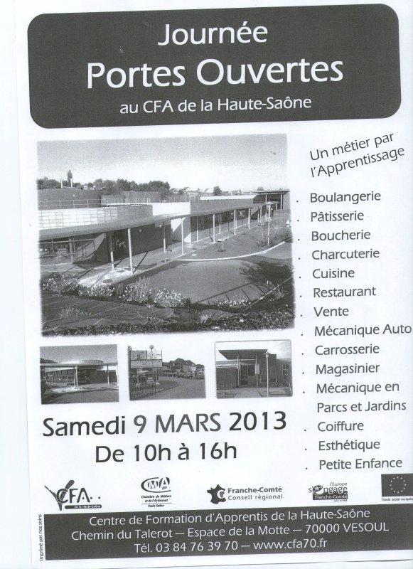 Portes ouvertes au CFA samedi 9 mars