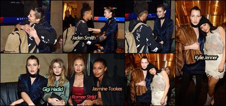 11.02.16 ─ Miss Bella s'est rendue à l'ouverture de la « Fashion Week  » de N-Y accompagnée par sa soeur Gigi.[/s#00000ize]Kanye West, le mari de Kim Kardashian, a officiellement ouvert la FW durant laquelle il a présenté sa nouvelle collection nommée : ''Yeezy Season 3'' ![/alig fen]