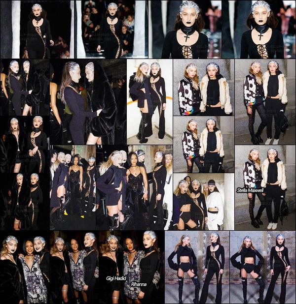 12.02.16 ─ La it-girl Bella Hadid a défilé pour « Fenty x Puma  » - toujours lors de la Fashion Week de New-York ![/s#00000ize]Après Kanye, c'était donc au tour de Rihanna de nous présenter sa collaboration avec la marque Puma. Une collection dominée par du noir, vous aimez ?[/alig fen]