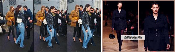 09/03/16 - Bella Hadid ainsi que sa s½ur aînée se rendait sur place du défilé de la marque « Miu Miu » à Paris ![/s#00000ize]Un peu avant, la belle a été photographiée en quittant son hôtel le George V. Les Hadid défileront ensemble pour la nouvelle collection de « Miu Miu ».[/alig fen]