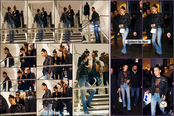09/03/16 - Le soir, Bella Hadid faisait du shopping à la boutique « Colette » avec ses amis dans la ville de Paris ! [/s#00000ize]Notre belle brune était accompagnée de sa soeur Gigi Hadid, leurs amis Kendall Jenner & Jaden Smith ! Je n'adhère pas du tout au jeans de Bella Hadid.[/alig fen]