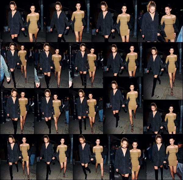 19/03/16 - Bella Hadid quittait le restaurant « The Nice Guy » avec sa grande s½ur Gigi, dans West Hollywood ![/s#00000ize]L'incontournable restaurant-bar a encore une fois accueillit les it-girls de l'heure, les s½urs Hadid ! Qui dit Hadid veut aussi dire un style très tendance.[/alig fen]
